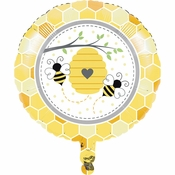 Bumblebee Baby Shower Mylar Balloons 10 ct