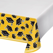 Graduation School Spirit Yellow Tablecloths