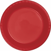 Classic Red Premium Plastic Dinner Plates 600 ct