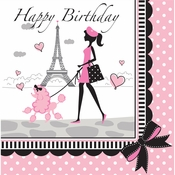 Paris Party Birthday Luncheon Napkins 216 ct