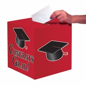 Graduation Card Boxes Red