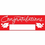 Red Graduation Party Banners 6 ct