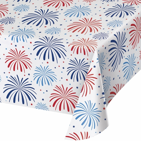 Patriotic Plastic Tablecloths 12 ct