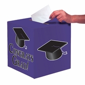Graduation Card Boxes Purple