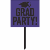 Purple Graduation Yard Signs 6 ct