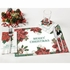 """7.5"""" x 4.25"""" Traditional Poinsettia Dinner Napkins 1000 ct"""