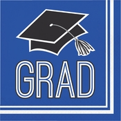 Graduation School Spirit Blue Luncheon Napkins