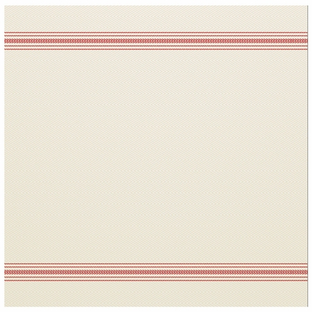 """15.5"""" x 15.5"""" FashnPoint White and Red Stripe Dinner Napkins Flat Pack 750 ct"""