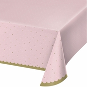 Stylish Swan Plastic Tablecloths 6 ct