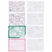 "Assorted Color Me Placemat Combo Pack & Crayons 9.75"" x 14"" 200 ct in quantities of 50 / pkg, 4 pkgs / case"