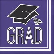 Graduation School Spirit Purple Luncheon Napkins