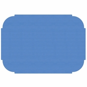 "Marina Blue 9.75"" x 14"" Decorator Placemat in quantities of 1000 / case"