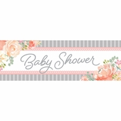 Country Floral Large Baby Shower Banners 6 ct