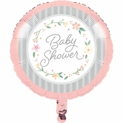 Country Floral Baby Shower Mylar Balloons 10 ct