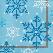 Snowflake Swirls Luncheon Napkins 192 ct