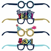 New Year Paper Eyeglasses 24 ct
