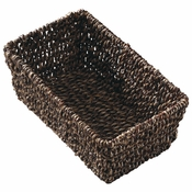 "10"" x 6.25"" x 4.25"" Seagrass Guest Towel Basket 1 ct"
