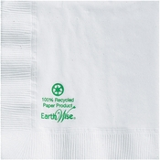Earth Wise White Beverage Napkins 1,000 ct