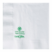 Earth Wise White Beverage Napkins in quantities of 250 / pkg, 12 pkgs / case