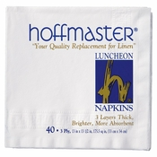 White Luncheon Napkins Retail Pack in quantities of 40 / pkg, 24 pkgs / case