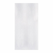 "Linen-Like Unembossed White Dinner Napkins 15"" x 17"" 1/8 Fold in quantities of 75 / pkg, 4 pkgs / case"