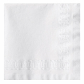 Greek Key Embossed White Dinner Napkins 1/4 fold in quantities of 75 / pkg, 8 pkgs / case