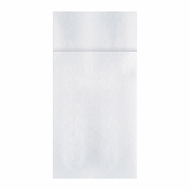 Quickset White Dinner Napkins in quantities of 100 / pkg, 8 pkgs / case