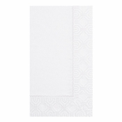 White Hoffmaster Dinner Napkins in quantities of 125 / pkg, 8 pkgs / case