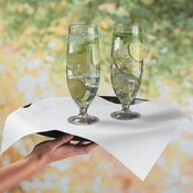 Linen-Like Flat Pack� White Bulk Napkins in quantities of 1000 / case