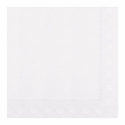 "Embossed White Dinner Napkins 17"" x 17"" 1/4 Fold in quantities of 100 / pkg, 12 pkgs / case"