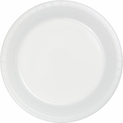 White Premium Plastic Dinner Plates 600 ct