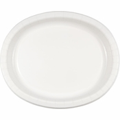 White Oval Platters sold in quantities of 8 / pkg, 12 pkgs / case.
