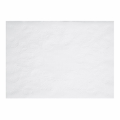 "White Dubonnet 9.75"" x 14"" Placemat with a white background and straight edges in quantities of 1,000 / case. Flat pack."