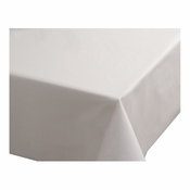 White Hoffmaster Plastic Tablecloths are sold in quantities of 1 / pkg, 12 pkgs / case