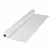 "White 40"" x 300 Plastic Banquet Table Roll is sold in quantities of 1 / pkg, 1 pkg /case"