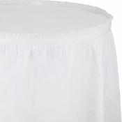 White Tableskirt Plastic  6 ct