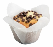 Solid colored greaseproof paper Large White Lotus Cup 2500 ct bulk case with 10/pkg, 250 pkgs/case.