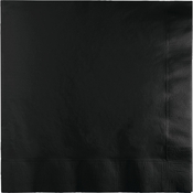Touch of Color Black Velvet 2 Ply Luncheon Napkins in quantities of 50 / pkg, 12 pkgs / case
