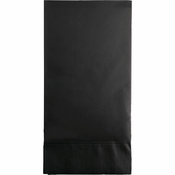 Touch of Color Black Velvet 3 Ply Guest Towels in quantities of 16 / pkg, 12 pkgs / case