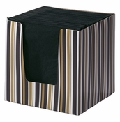 Black Beverage Napkins in Decorative Dispenser in quantities of 150 / pkg, 6 pkgs / case