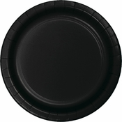 Touch of Color Black Velvet Dessert Plates in quantities of 24 / pkg, 10 pkgs / case