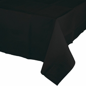 Black Velvet Plastic Tablecloth 12 ct