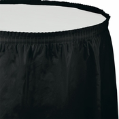 Touch of Color Black Velvet Plastic Tableskirt in quantities of 1 / pkg, 6 pkgs / case