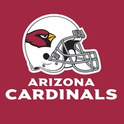 Red and black Arizona Cardinals Luncheon Napkins are sold 16 / pkg, 12 pkgs / case