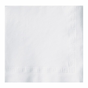 Greek Key Embossed White Beverage Napkins in quantities of 200 / pkg, 4 pkgs / case