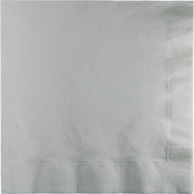 Shimmering Silver Luncheon Napkins 3 ply 500 ct