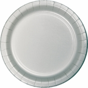 Value Friendly Shimmering Silver Dessert Plates 96 ct