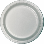 Value Friendly Shimmering Silver Dinner Plates 96 ct