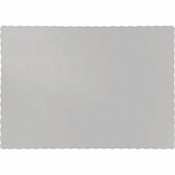 Touch of Color Shimmering Silver Paper Placemats in quantities of 50 / pkg, 12 pkgs / case