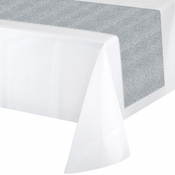 Silver Glitter Table Runners 6 ct